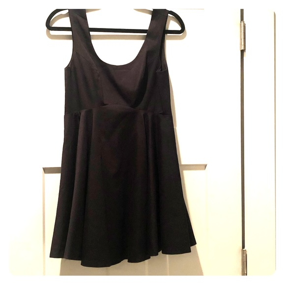Free People Dresses & Skirts - Black Free People Party Dress With Deep V Back